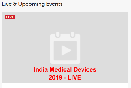 INDIA MEDICAL DEVICES 2019 - LIVE